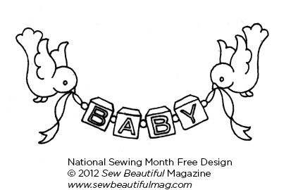 Baby Bird Embroidery Design