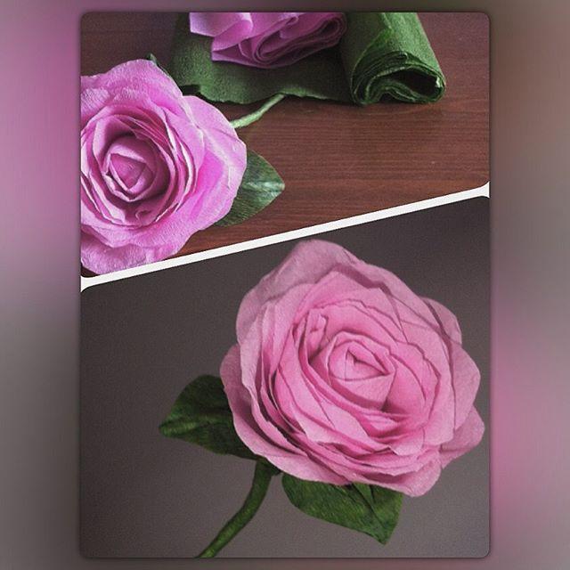 #rose aus #krepppapier #krepppapierblumen #papierblume #papierbasteln #papercraft #crafting #handgemacht #handmade #diy #vintage #vintagestyle #shabbychic #crepepaper #papelcrepe