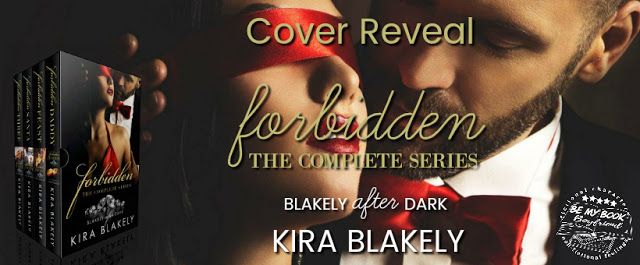 Forbidden by Kira Blakely  Title: Forbidden ( The Complete Series )  Author: Kira Blakely  Genre: Erotic Romance  Four forbidden novellas. One billionaire secret island. Masks required. You are cordially invited to Mystique Island. Forbidden Daddy The masquerade ball is where I find the most familiar eyes. They remind me of the sexiest daddy Ive ever known My exs dad. Forbidden Feast Its a Thanksgiving feast fit for a king and Im the main course. Theres only one man I want and hes going to…