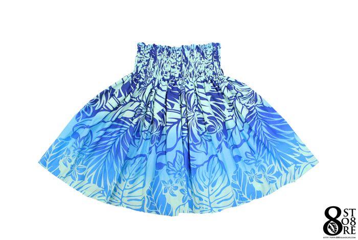 フラダンス 衣装 パウスカート No.448 ブルー グラデーション フラスカート フラダンス衣装 フラダンススカート フラ衣装 ハワイアンスカート ハワイ衣装 ハワイアン衣装 ハワイアンダンス