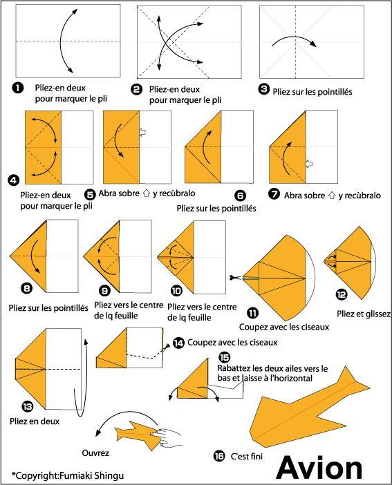les 25 meilleures id es de la cat gorie avion en papier sur pinterest avion papier pliage. Black Bedroom Furniture Sets. Home Design Ideas