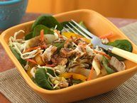 Healthified Thai Salad with Peanut Dressing recipe from Betty Crocker