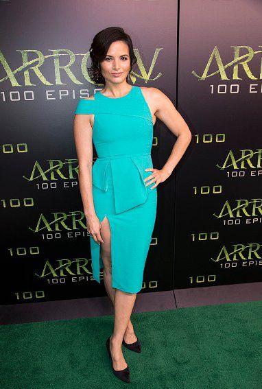 Katrina Law attends #Arrow's 100th episode celebration. #Arrow100