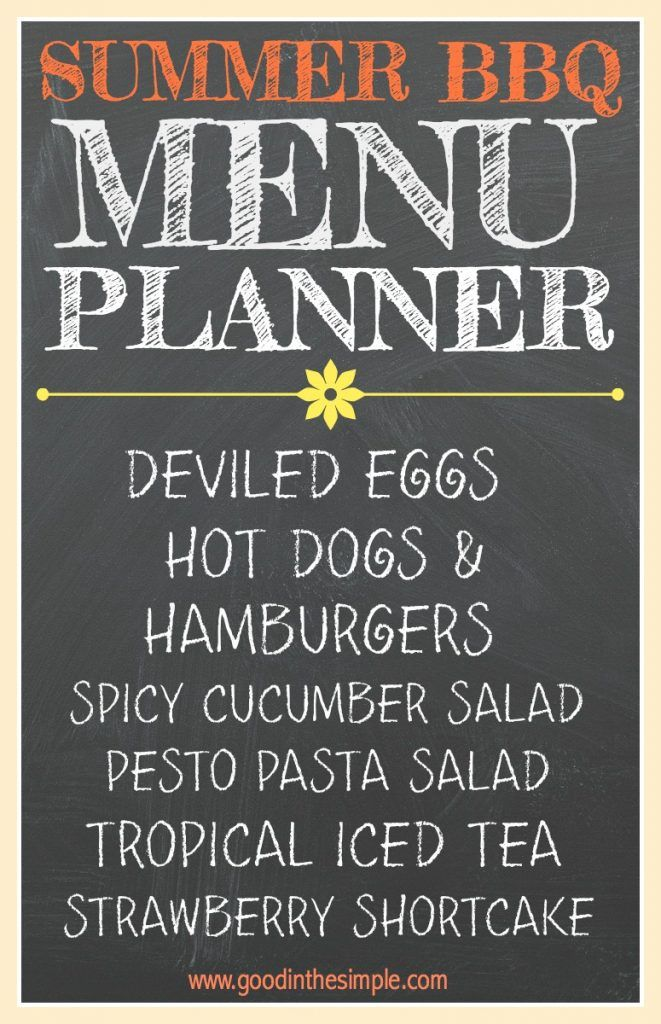 This simple summer BBQ Menu Planner will take the stress out of summer entertaining. This post includes recipe and menu recommendations, as well as a free printable worksheet that you can use for planning your next BBQ.