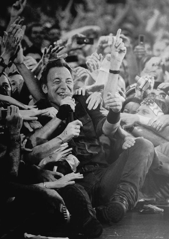 Bruce Springsteen - Happy in love with his adoring fans.  .   .   .   .   .   .   thesamiposts