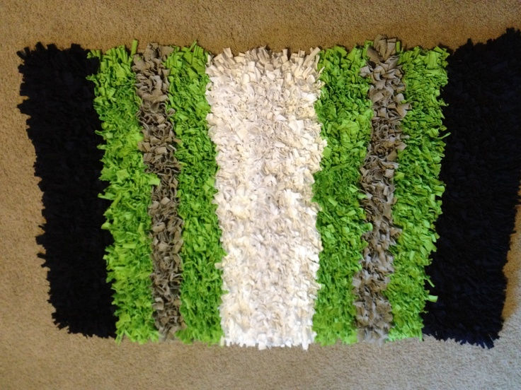 Rag Rug For My Sisters Baby S Nursery Lots Of Jersey Knit Fabric Mat