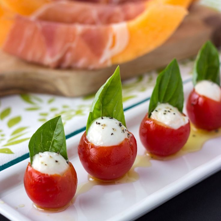 Caprese Bites with Pesto | Cooking on the Front Burner