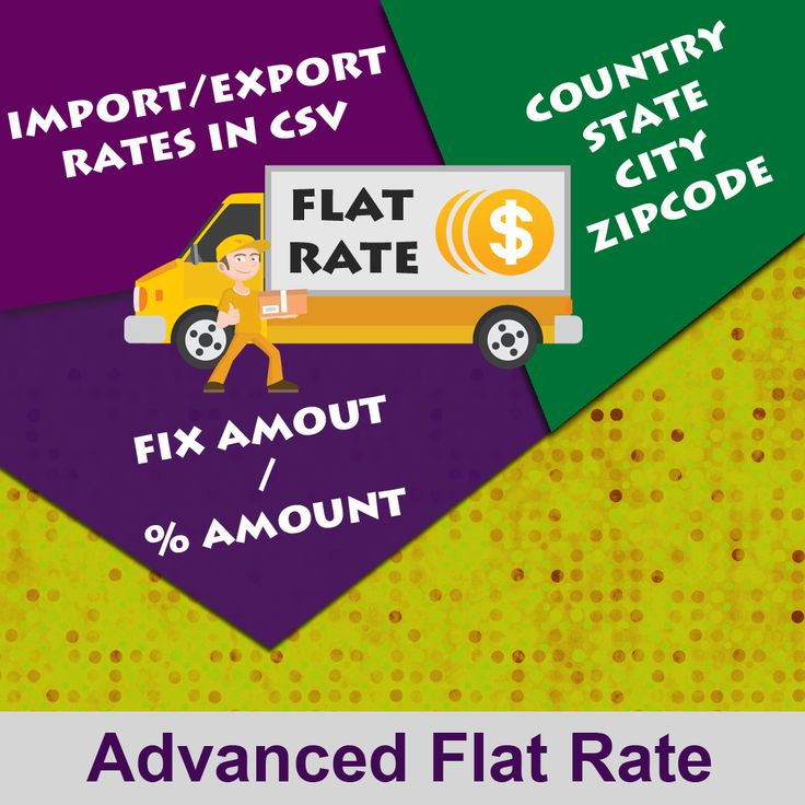 Advanced Flat Rate extension is an advanced version of magento default flat rate shipping method. It will allow admin to add product flat rate shipping according to the destination. Features:- 1. Flat rate by fixed amount or percent amount with per order basis or per item basis condition. 2. Admin can define these rate destination wise like country, state, zip code, city. 3. Admin can import and export the rate in csv files.