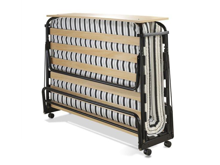 jay be venus lit pliant avec matelas airflow double densit m tal noir small double 120 x. Black Bedroom Furniture Sets. Home Design Ideas
