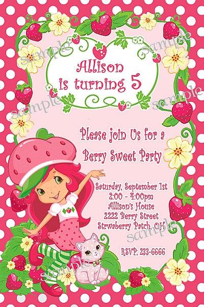 94 best strawberry shortcake invitations images on pinterest, Wedding invitations