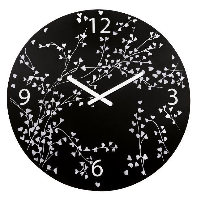 Large black clock, Rosi Black Wall Clock, Koziol contemporary black clock