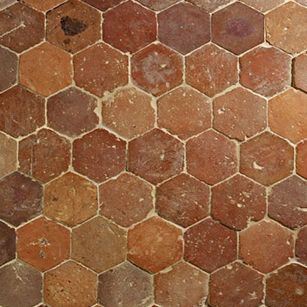 Antique French Reclaimed Orleons Terracotta Stone Floor