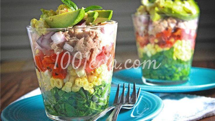 Радужный салат в стакане: рецепт с пошаговым фото