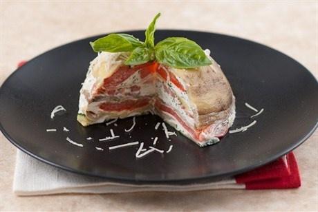 Мильфей из печеных овощей с мягким козьим сыром рецепт – закуски. «Афиша-Еда»