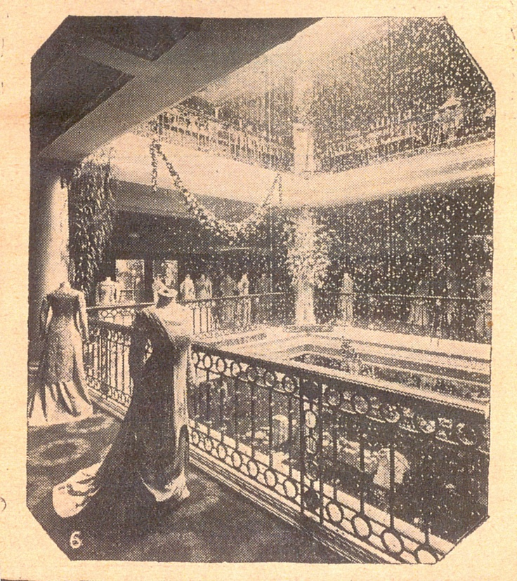 Selfridges London's Fashion Department in 1909