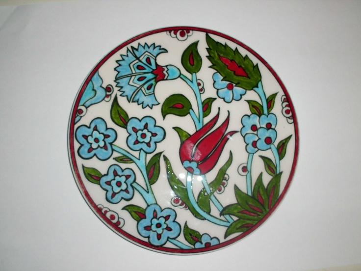 16cm ceramic trivet handmade by Meral