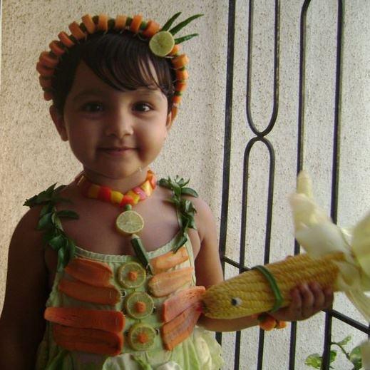 Vegetable fancy dress for kids