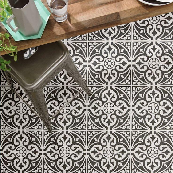 Black And White Modern Kitchen Tiles Graffitti