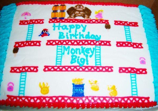Nintendo Cake Donkey Kong And Donkeys On Pinterest