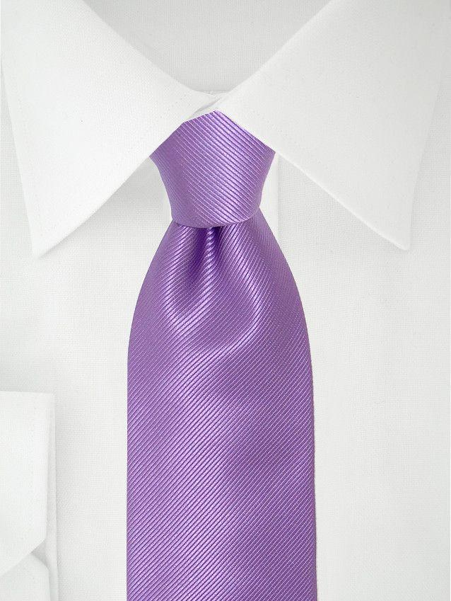 Lila Krawatte aus Seide