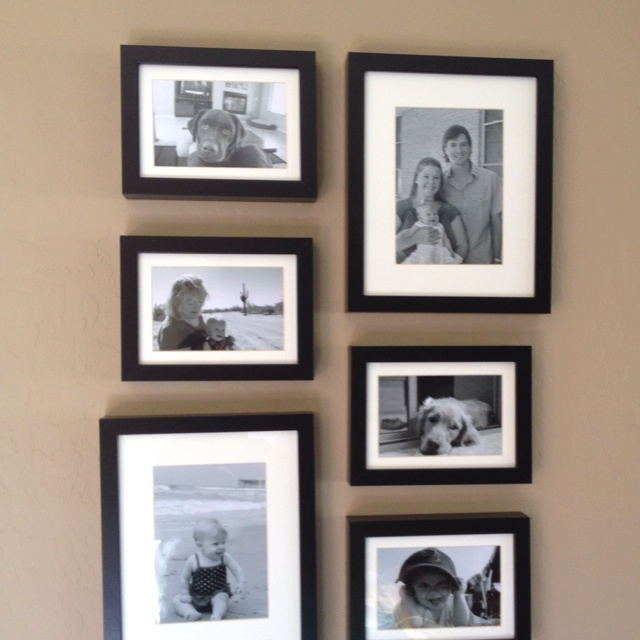 ikea picture frames put together in a collage with black and white photos super affordable
