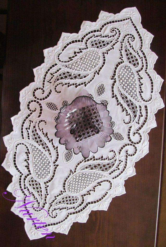 nurten kuşçu cutwork embroidery tablecloth - embroidery - nakış - delik işi nakış - beyaz iş nakış - Google Search