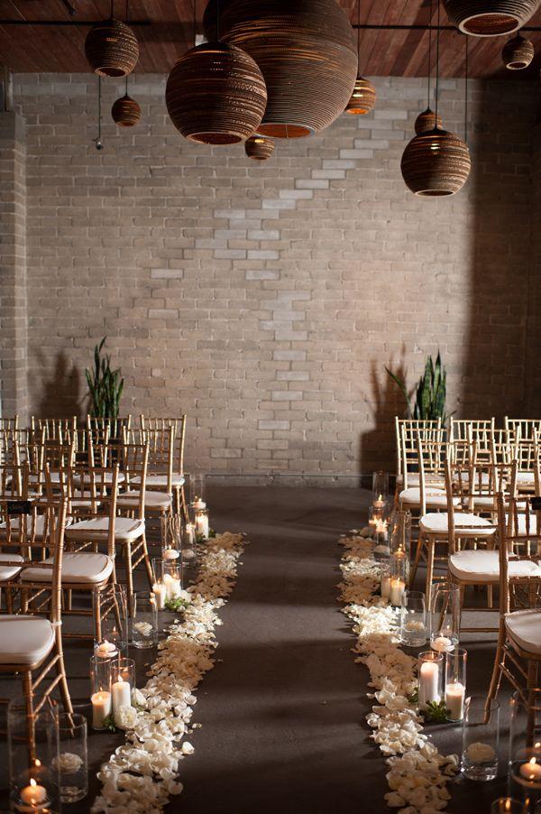 wedding ceremony, photo by Blue Rose Photography http://ruffledblog.com/seattle-new-years-eve-wedding #venue #decor