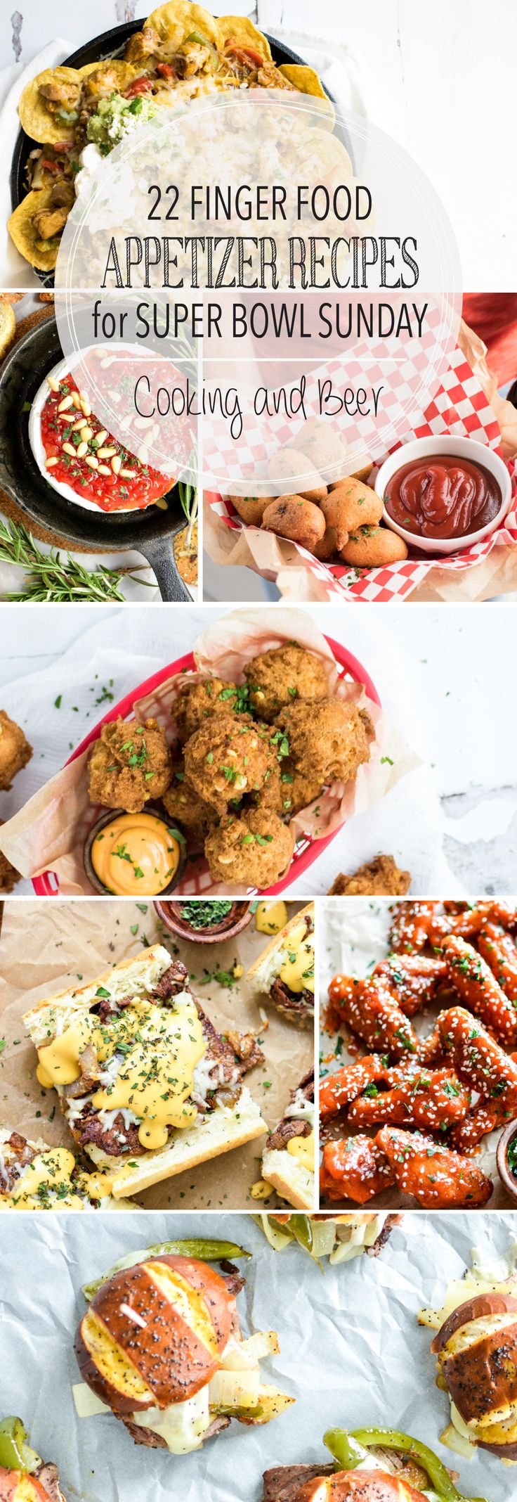 From fritters to nachos and wings to sliders, here are 22 Finger Food Appetizer Recipes for Super Bowl Sunday! Add them to your party menus ASAP!