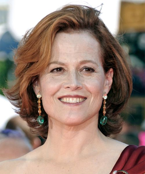 Sigourney Weaver Medium Straight Hairstyle