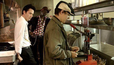 Keanu Reeves, Djimon Hounsou and Shia LaBeouf in Constantine (2005)
