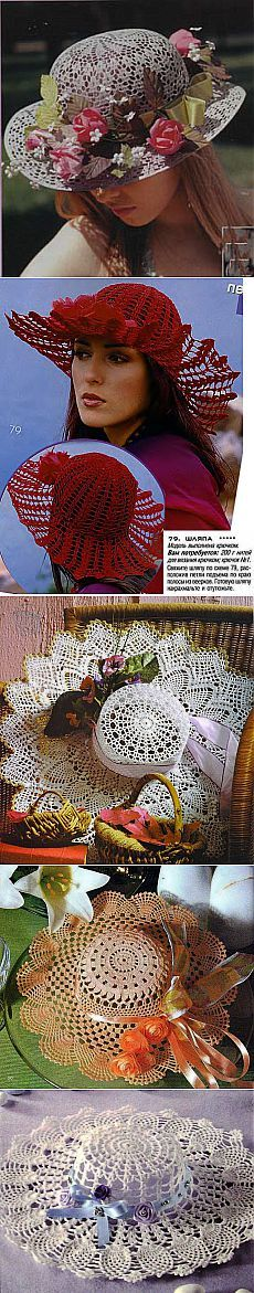 вязание крючком милой кружево летние шляпы, вязаные структуры   сделать своими руками, вязание крючком, Ремесла