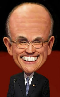 Rudy Giuliani by H.edward brooks celebrities, caricature, portrait and sports illustration