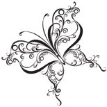 Curly tribal butterfly tattoo design ...