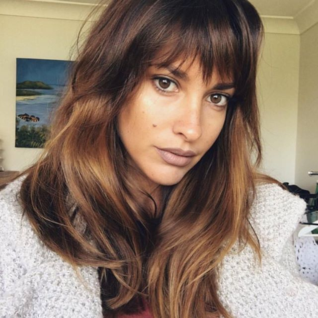 """480 Likes, 17 Comments - Hair Salons Across Australia (@_edwardsandco) on Instagram: """"#Bronde and #Bangs for this bombshell @_jamieallen_ by @mikki_edwardsandco using @lakmecolour -…"""""""