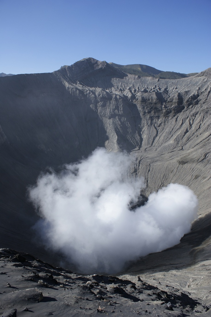 Crater of Mount Bromo - by Nila Tanzil