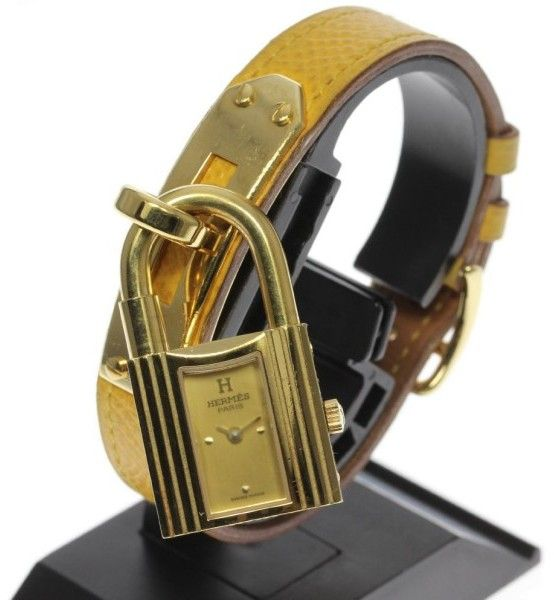 Hermes Kelly Yellow Gold / Stainless Steel / Leather Quartz 20mm Womens Watch