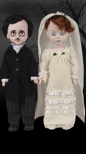 Living Dead Dolls:  Edgar Allan Poe & Annabel Lee.  I have this set and love them!
