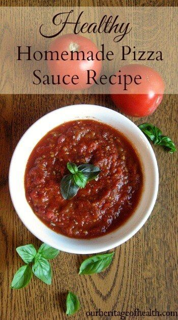 Healthy homemade pizza sauce recipe | This healthy recipe is a real food version of homemade pizza sauce using only natural ingredients | ourheritageofhealth.com