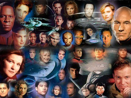 """Star Trek Captains & casts: The Original Series; The Next Generation; Deep Space Nine; Voyager. """"Star Trek-Enterprise"""" would come later, altho its story was set many years prior to that of the original """"Star Trek"""" series. Cool"""