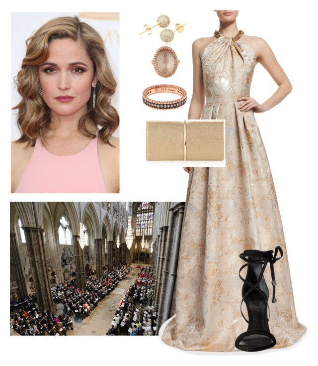 """""""Princess Annelise Attending the wedding of her Brother, Crown Prince Charles of England to Princess Cassandra of Sweden"""" by hrh-princess ❤ liked on Polyvore featuring H&M, Carmen Marc Valvo, Loushelou, Larkspur & Hawk, Kismet, Nina Ricci and Schutz"""