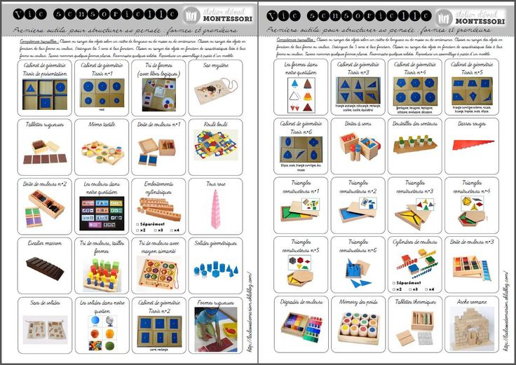Carnet de suivi des ateliers Montessori - dans la classe de Marion