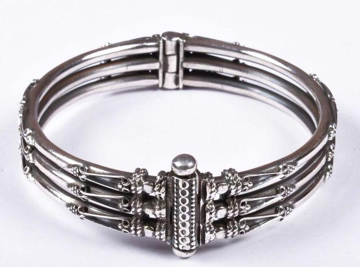 925 Solid Sterling Silver Bangle Stylish Jali Work Easy to Open 53 mm JSBG-32 #Handmade #Bangle