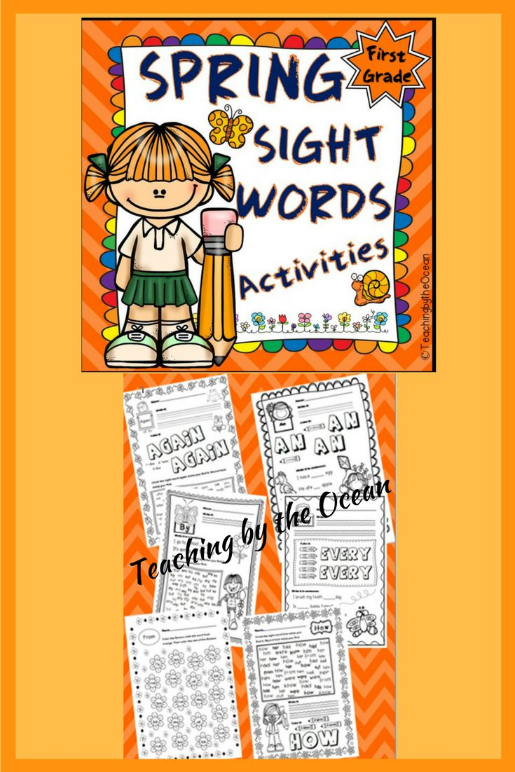Let your students grow in their knowledge of sight words by getting great practice with this Spring 1st Grade Sight Words pack. This sight words file contains 40 words related to Dolch 1st Grade list of Sight Words.