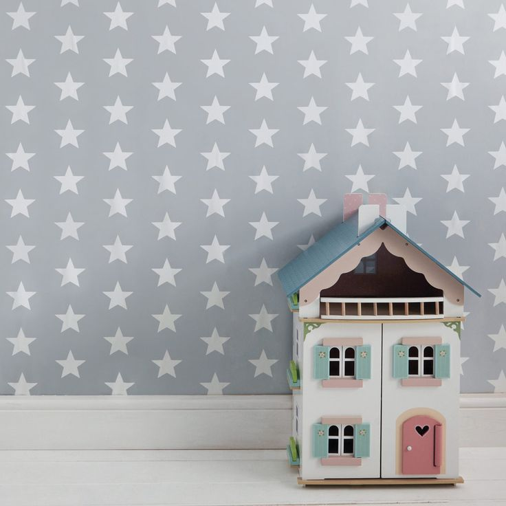 GLTC Wallpaper - Grey Star - 20Percent Off Wallpapers - Bedding & Room Accessories