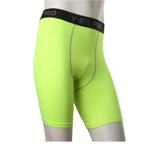 Yel Hot Logo Custom Gym Leggings Men Compression Crossfit Shorts Football Trousers Jogging Pantalones Quickly Dry Running Shorts