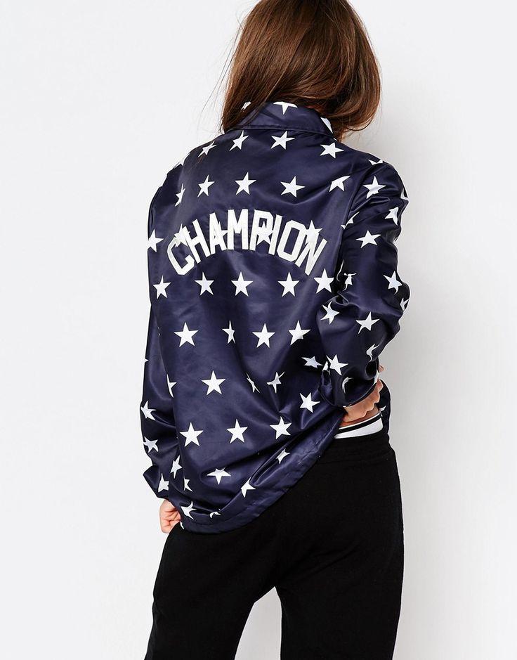 Image 1 - Champion - Veste style entraîneur à imprimé étoiles