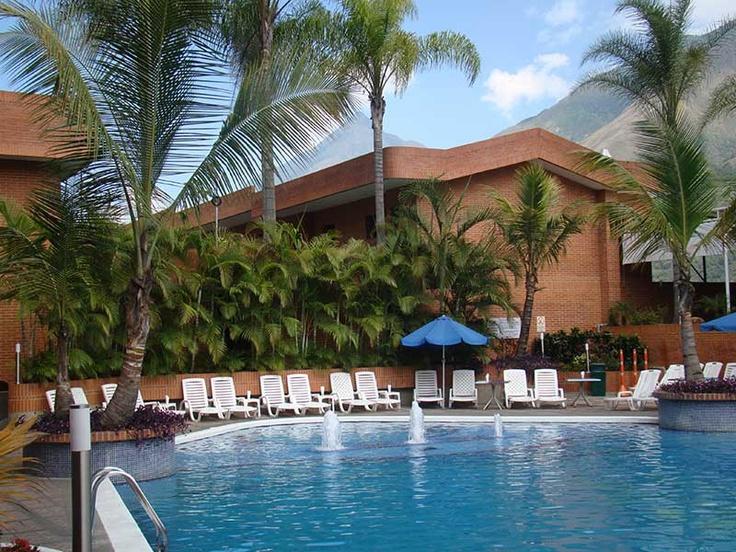 Agradable piscina temperada, con vista al avila