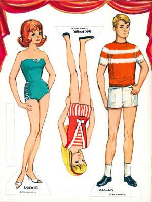 Midge, Skipper & Alan Paper Dolls