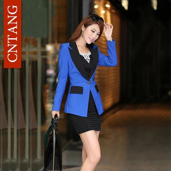 Fashion Autumn Feminine Blazer Candy Color JacKet Slim Long Sleeve Women Suit Business Formal Office Female Coat