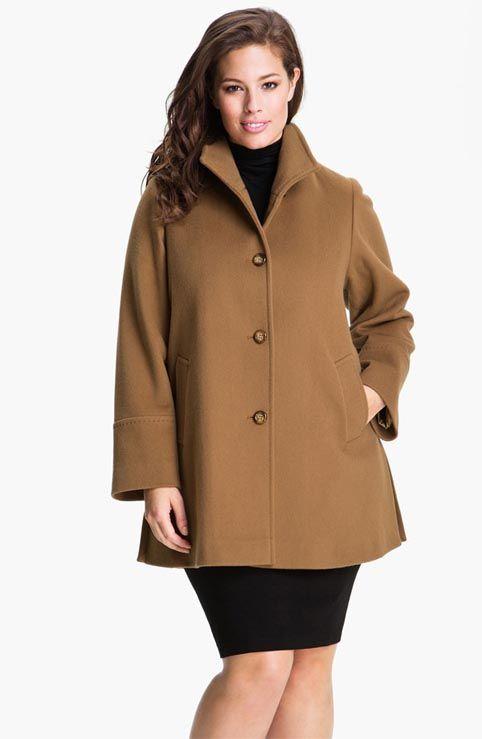 Модные пальто и полупальто для полных женщин. Осень-зима 2012-2013